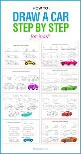 How To Draw Halloween Things Easy by How To Draw A Car Step By Step For Kids Car Drawings Drawing