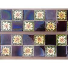 victorian to edwardian original antique fireplace tiles in teapot