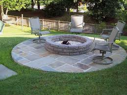 Round Brick Fire Pit Design - pavers for fire pit crafts home