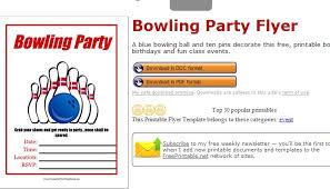 bowling flyer template free hitecauto us