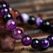 beaded bracelet jewelry images Natural stone love purple bead bracelet unique and trendy jpg