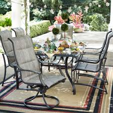Hton Bay Swivel Patio Chairs 7 Outdoor Dining Set With Swivel Chairs Home Outdoor