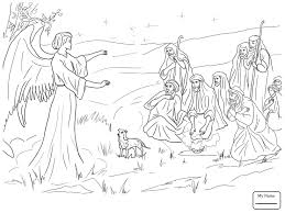 nativity coloring sheets christianity bible jesus nativity angel gabriel announcing the
