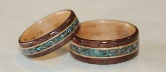 wood wedding rings wooden rings from touch wood rings finely handcrafted and custom