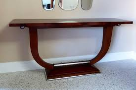Art Deco Furniture Designers by Art Deco Console Table Chrome Feature On Base Timeless