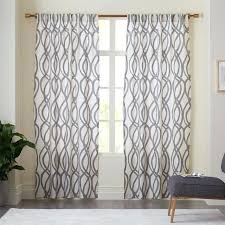 blue yellow gray curtains cotton canvas scribble lattice curtains