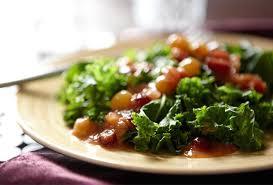 comment cuisiner le chou kale recette de chou kale à la vapeur aux raisins dorés p g au