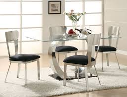 Circular Glass Dining Table And Chairs Inspiring Modern Glass Dining Room Table Round Glass Dining Table
