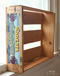 Crate Bookcase Diy Fruit Crate Bookshelves
