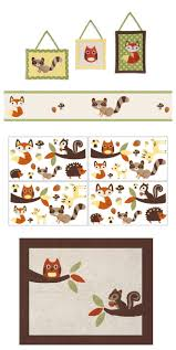 Woodland Forest Peel And Stick Woodland Forest Animals Boys Bedding Twin Comforter Set Brown
