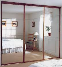 Mirror Sliding Closet Doors For Bedrooms Mirrored Sliding Closet Doors Wow That Trim Makes The Mirrors