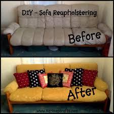 Cost Of Reupholstering Sofa by Karima U0027s Crafts Reupholstering A Sofa My Mini Tutorial