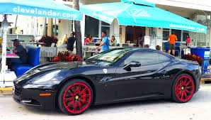 dark purple ferrari black ferrari california red rims exotic cars on the streets of