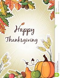 Free Happy Thanksgiving Happy Thanksgiving Day Celebration Flyer Stock Vector Image