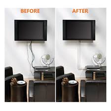Cord Hider For Wall Mounted Tv Cable Wall Cover Tv Wire Organizer Cables Management System Flat