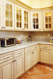Painted And Glazed Kitchen Cabinets by North American Maple Antique White Glaze Kitchen Cabinets With