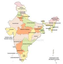 Blank States Map by India Political Map