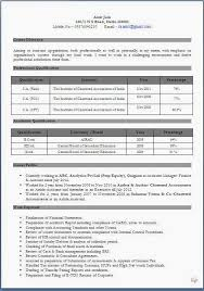 chartered accountant resume resume templates
