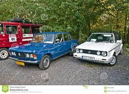 vintage volkswagen convertible vintage cars fso polski fiat 125p and volkswagen golf i editorial