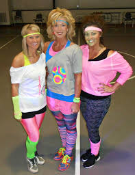 80 s attire for cosmic weworkout health and fitness