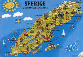Countries Visited Map Map Of Sweden Sweden Map And Sweden