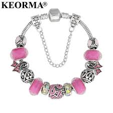 charm bracelet murano glass images Keorma lovely girl silver color women bracelet murano glass bead jpg