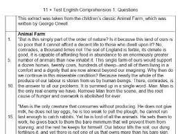 11 multiple choice comprehension cem by m11plus teaching