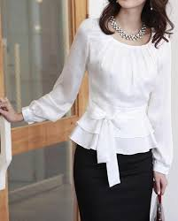 Black Blouse With White Collar Sweet Pleated Bodice Ruffled Ribbon Waist Blouse Shirt Ruffles