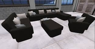 second life marketplace livingroom leather animation leder table