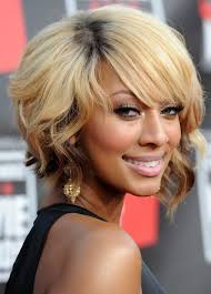 layered hairstyles with bangs for african americans that hairs thinning out african american short blonde wavy bob hairstyle with bangs