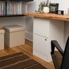 Desk With Filing Cabinet Drawer Bisley White 2 3 Drawer Locking Filing Cabinets The Container