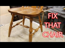 Dining Room Chair Parts by Kitchen Chair Repair How To Make Replacement Parts Youtube