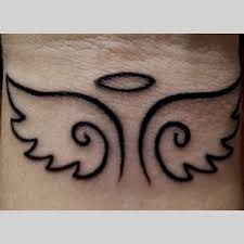 small angel wings outline tattoo on wrist tats pinterest