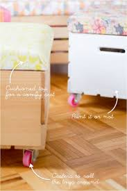 rock it yourself diy toy box with casters this little street