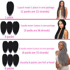 how many packs of expression hair for twists new havana mambo twist crochet braids xpression braiding hair