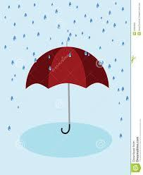 red umbrella and rain stock photo image 32690920