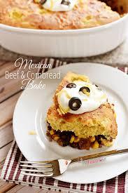 Quick Easy Comfort Food Recipes Mexican Beef U0026 Cornbread Bake