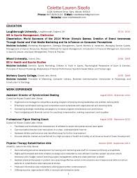 usa resume colette sisofo resume usa 2014
