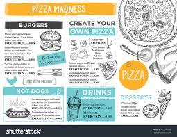 menu placemat food restaurant brochure menu stock vector 412168399