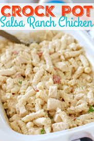 crock pot salsa ranch chicken pasta the country cook