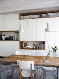 configuration cuisine mur rangements blanc bois scandinave inspirations avec configuration