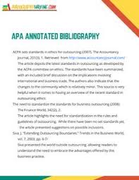 Annotated bibliography example Annotated bibliography research paper example This handout provides information about annotated bibliographies in MLA  APA
