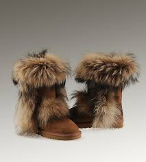 ugg boots sale chestnut ugg mini bailey bow snake ugg fox fur boots 5825 chestnut