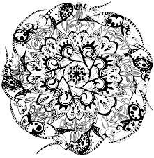 rat mandala black and white coloring page rats