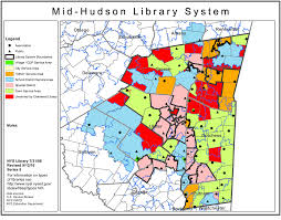 New York City Area Map by Mid Hudson Library System Public Library Service Area Maps
