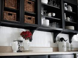 Material For Kitchen Cabinet Black Kitchen Cabinets What Color On Wall Yellow Exposed Shelves