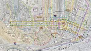 Atlanta Streetcar Map El Paso Streetcar Map Map Of El Paso Streetcar Texas Usa