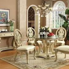 Round Glass Top Pedestal Table Cane Back Accent Chair With Upholstery Comforts Of Home