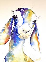 Goat Home Decor Goat Watercolor Print Animal Painting Baby Shower Baby Gift