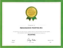 gaf master elite roofer renaissance roofing inc
